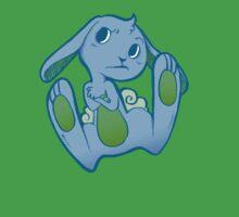 Fussy Bunny in Blue on Blue Kids Tee