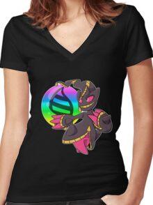 Mega Banette Women's Fitted V-Neck T-Shirt