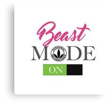 Herbalife Beast Mode On For Ladies HerbaSwag Canvas Print