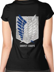 Attack on titan - Survey corps (dirty style) - back or front Women's Fitted Scoop T-Shirt