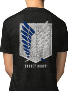 Attack on titan - Survey corps (dirty style) - back or front Tri-blend T-Shirt