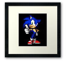 Sonic The Hedgehog Sprite Framed Print