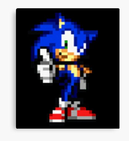 Sonic The Hedgehog Sprite Canvas Print
