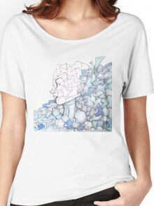 Abstracted Female Portrait Women's Relaxed Fit T-Shirt
