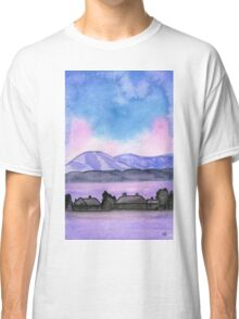 Far away on the road - Watercolor Painting Classic T-Shirt