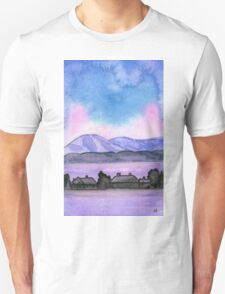 Far away on the road - Watercolor Painting Unisex T-Shirt
