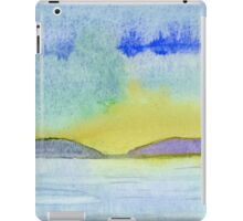 Abstract of a Landscape - Watercolor painting iPad Case/Skin