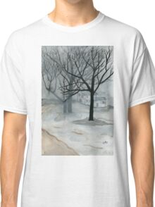 Winter Day - Watercolor Painting Classic T-Shirt
