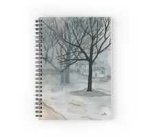 Winter Day - Watercolor Painting Spiral Notebook