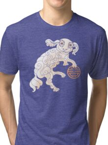 Long Life White Cloud Foo Dog Tri-blend T-Shirt