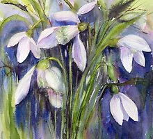 First Snowdrops by bevmorgan