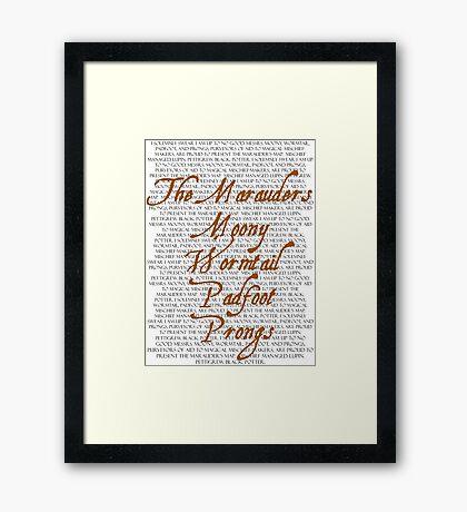 The Marauders Framed Print