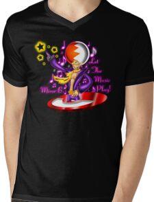 Let the Music Play! Mens V-Neck T-Shirt