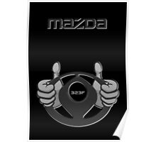 Mazda Eternal Flame Logo Grey Poster