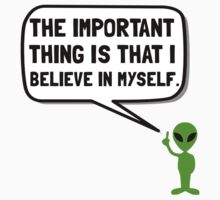 Alien Believe In Myself Baby Tee