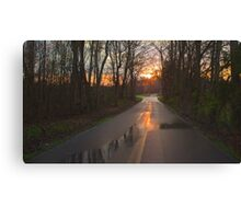 Mosely Ferry Sunset Canvas Print