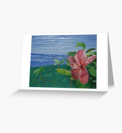 Paradise (Original Flower Oil Painting) Greeting Card