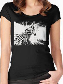zebra love Women's Fitted Scoop T-Shirt