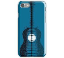Trees sea and the moon turned vertical guitar iPhone Case/Skin