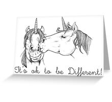 Unicorn love Greeting Card