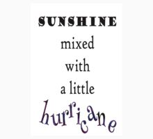 Sunshine mixed with a little hurricane digital illustration Baby Tee