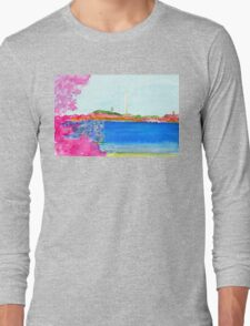 Washington Monument with Cherry Blossoms Long Sleeve T-Shirt