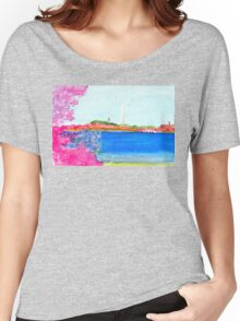 Washington Monument with Cherry Blossoms Women's Relaxed Fit T-Shirt