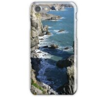 Light Rays & Cliff Layers, Elegug Stacks,Pembrokeshire iPhone Case/Skin