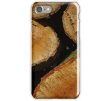Wood pile in low sunlight, iPhone Case/Skin
