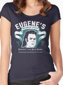 Eugene's Barber Shop Women's Fitted Scoop T-Shirt