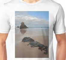 Sea Stack and Jurassic looking Rock on Sango Bay Unisex T-Shirt