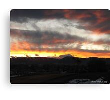 Sunset in the Rocky Mountain National Park Canvas Print