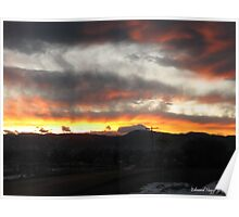 Sunset in the Rocky Mountain National Park Poster