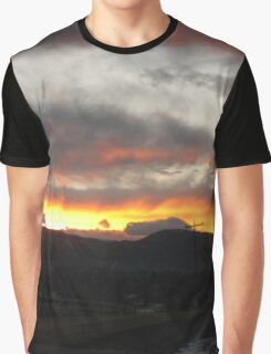 Sunset in the Rocky Mountain National Park Graphic T-Shirt