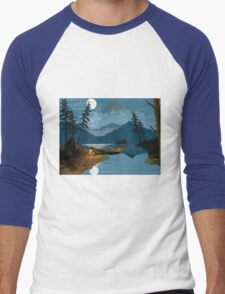 Cowboy in the Rocky Mountains Men's Baseball ¾ T-Shirt