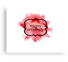 Miami University Canvas Print