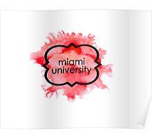 Miami University Poster
