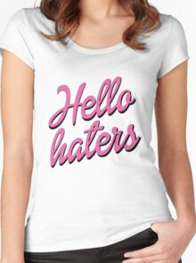 Hello Haters Women's Fitted Scoop T-Shirt