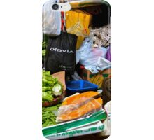 market scene in Hong Kong lady selling fruit and vegetables iPhone Case/Skin