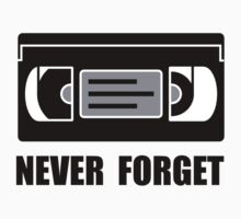 VCR Tape Never Forget One Piece - Short Sleeve