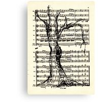 Handel Water Music Tree #4 Canvas Print