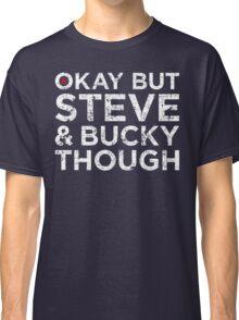 Steve & Bucky Though - White Text Classic T-Shirt