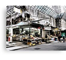 shop under construction in Hong Kong Canvas Print
