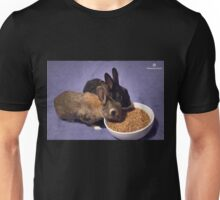 Rabbits Eating Spent Grains Unisex T-Shirt
