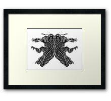 Carto Inkblot Framed Print