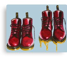 Surrealism Red Boots  Canvas Print