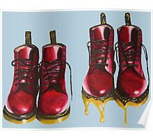 Surrealism Red Boots  Poster
