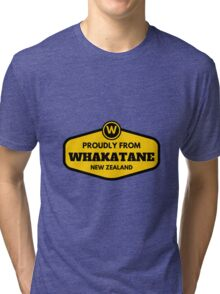 Proudly From Whakatane New Zealand Tri-blend T-Shirt