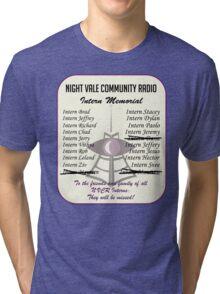 Night Vale Community Radio Intern Memorial Tri-blend T-Shirt