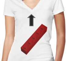 1x5 Lego Hot Chick Women's Fitted V-Neck T-Shirt